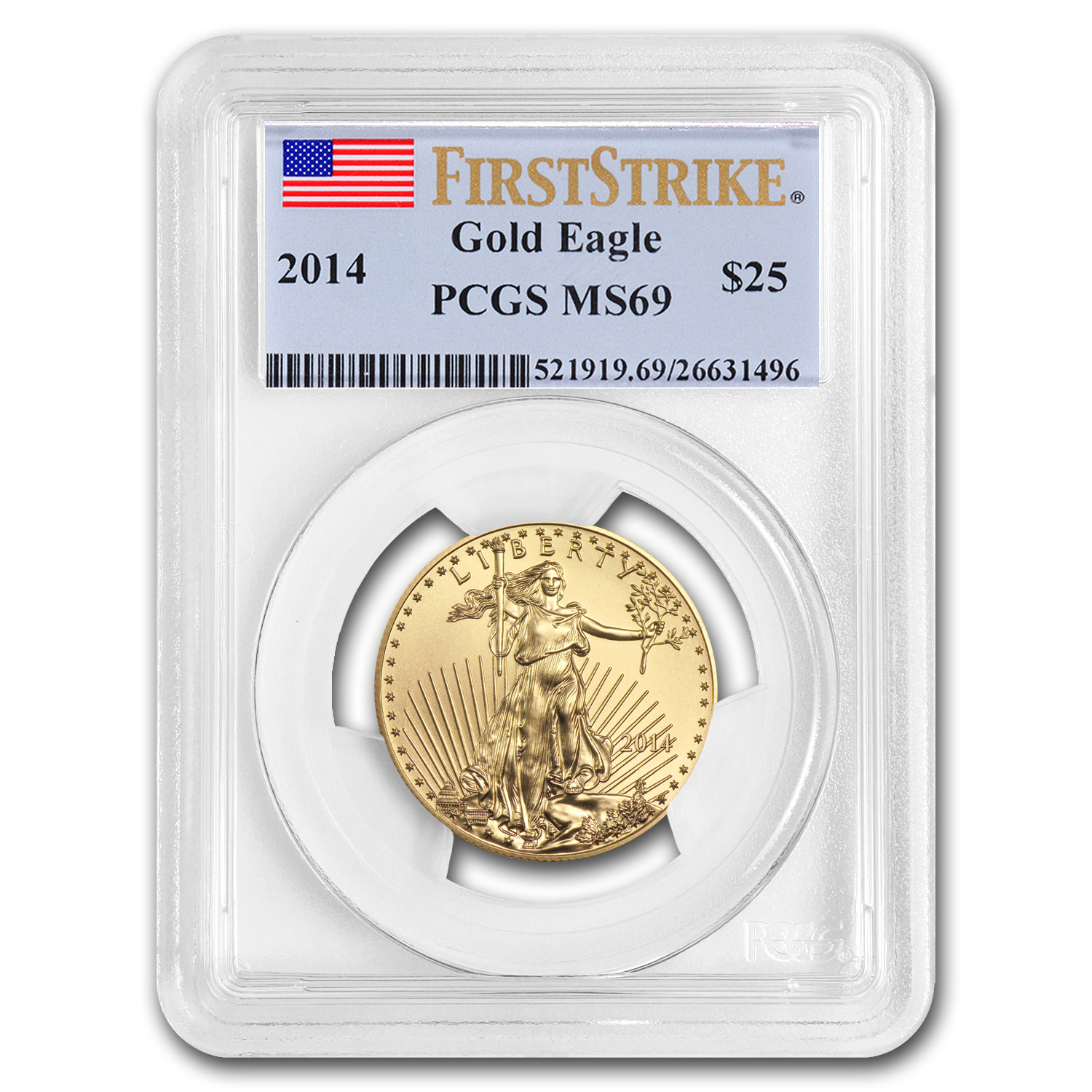 2014 1/2 oz Gold American Eagle MS-69 PCGS (FS)